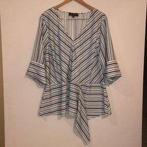 Adorable striped plus size tunic